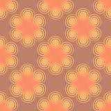 Безшовная спиральная картина пинка цветка иллюстрация вектора