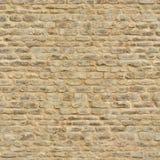 Безшовная средневековая кирпичная стена Стоковые Изображения