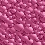 Безшовная стильная картина дня ` s валентинки с сердцами Стоковая Фотография RF