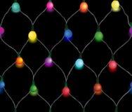 Безшовная строка светов рождества Стоковое Изображение RF