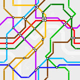 Безшовная схема метро Стоковые Изображения