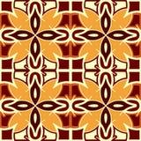 Безшовная творческая этническая квадратная картина Геометрический образец вектора Винтажный племенной этнический фон, безшовная т Стоковая Фотография RF