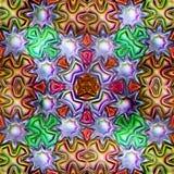 Безшовная текстура абстрактных ярких сияющих красочных геометрических форм Стоковые Фотографии RF