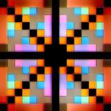 Безшовная текстура абстрактных ярких сияющих красочных геометрических форм Стоковые Изображения RF