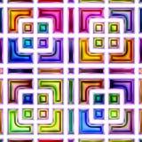 Безшовная текстура абстрактных ярких сияющих красочных геометрических форм Стоковое Изображение RF