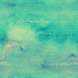 Безшовная текстура акварели в зеленых тонах Стоковая Фотография