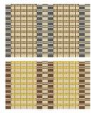 Безшовная текстура вектора бамбукового занавеса или покрыванной соломой циновки таблицы Стоковая Фотография