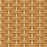 Безшовная текстура вектора двойной соткать коричневых хворостин вербы Стоковые Изображения RF
