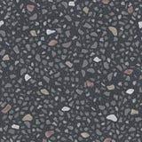 Безшовная текстура вектора серого асфальта Стоковые Фото