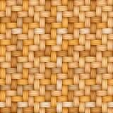 Безшовная текстура вектора соткать пестрой соломы Стоковая Фотография RF