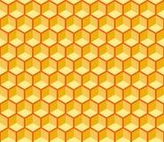 Безшовная текстура вектора шестигранных ячеек бесплатная иллюстрация