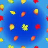 Безшовная текстура в форме листьев осени Стоковое Фото
