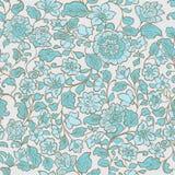 Безшовная текстура лета с цветками и лист иллюстрация вектора