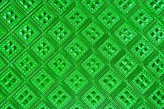 Безшовная текстура зеленого стекла Стоковая Фотография RF