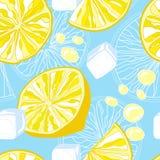 Безшовная текстура лимонада Стоковые Изображения RF