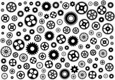 Безшовная текстура или различные колеса шестерни также вектор иллюстрации притяжки corel Стоковая Фотография