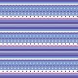 Безшовная текстура как вязать картина с различными нашивками, точками и волнами иллюстрация штока