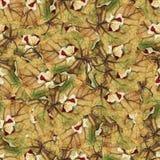 Безшовная текстура картины предпосылки огромных листьев тополя Стоковая Фотография
