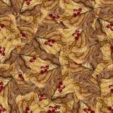 Безшовная текстура картины предпосылки огромных листьев тополя Стоковые Изображения