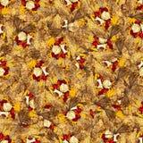 Безшовная текстура картины предпосылки огромных листьев wi тополя Стоковые Изображения RF