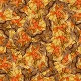 Безшовная текстура картины предпосылки огромных листьев wi тополя Стоковое фото RF