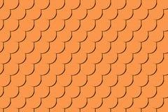 Безшовная текстура коричневой крыши Стоковые Изображения RF