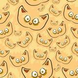 Безшовная текстура кота Стоковые Фотографии RF