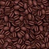 Безшовная текстура кофейных зерен Стоковая Фотография