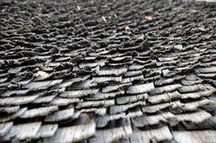 Безшовная текстура крыши гонта деревянной Стоковое Изображение