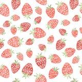 Безшовная текстура клубники, бесконечная предпосылка ягоды Аннотация бесплатная иллюстрация