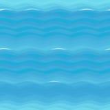 Безшовная текстура: море с волнами иллюстрация вектора