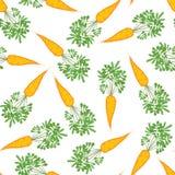 Безшовная текстура моркови Бесконечная vegetable предпосылка вектор иллюстрация штока
