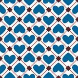 Безшовная текстура от сердец иллюстрация штока