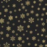 Безшовная текстура праздника, картина рождества с украшением для тканей, брошюрой снежинок золота, картой 10 eps иллюстрация штока