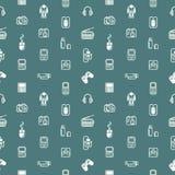 Безшовная текстура предпосылки устройств Стоковые Изображения RF