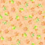 Безшовная текстура пятен акварели пестротканых на оранжевой предпосылке иллюстрация штока