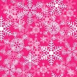 Безшовная текстура со снежинками на розовой предпосылке бесплатная иллюстрация