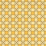 Безшовная текстура старой бумаги с геометрическим ornamental Стоковая Фотография RF