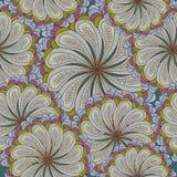 Безшовная текстура с богато украшенными цветками и лист Стоковые Фотографии RF