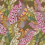 Безшовная текстура с богато украшенными ягодами Стоковые Фото