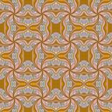 Безшовная текстура с богато украшенным Стоковая Фотография