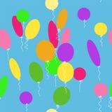 Безшовная текстура с воздушными шарами бесплатная иллюстрация