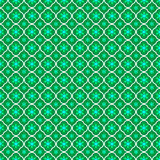 Безшовная текстура с геометрическими формами в форме цветков на зеленой предпосылке Стоковые Фото