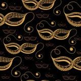 Безшовная текстура с декоративной маской 16 Стоковое Изображение RF