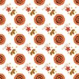 Безшовная текстура с картиной Khokhloma 10 eps Стоковое фото RF