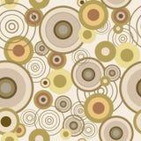 Безшовная текстура с концентрическими кругами иллюстрация вектора