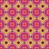 Безшовная текстура с косоугольниками и кругами Стоковые Фото