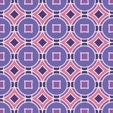 Безшовная текстура с косоугольниками и кругами Стоковое Изображение