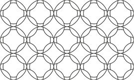 Безшовная текстура с косоугольниками и кругами, patt мозаики бесконечным Стоковое Изображение