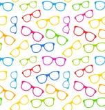 Безшовная текстура с красочными Eyeglasses иллюстрация вектора